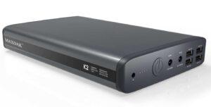 MAXOAK 50000mAh 185wh 6 Port(5/12/20v) Portable Charger External Battery Power Bank