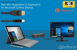 Mini DisplayPort to DisplayPort for Microsoft Surface