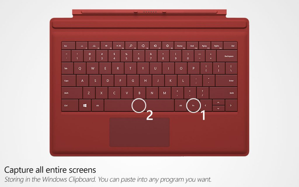How to take a screenshot on microsoft surface taking a screenshot using surface type cover method 2 ccuart Gallery