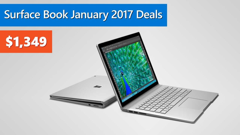 Microsoft Surface Book January 2017 Deals