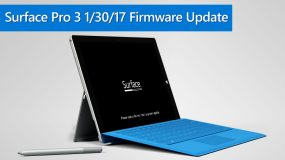Surface Pro 3 01/30/2017 Firmware Update
