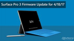 Surface Pro 3 Firmware Update for April 18, 2017