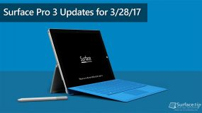 Surface Pro 3 Updates for March 28, 2017