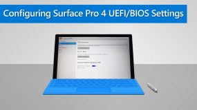 Configuring Surface Pro 4 UEFI/BIOS Settings