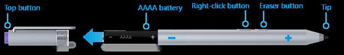 Surface Pro 3 Pen AAAA battery