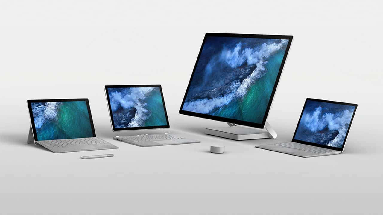 Microsoft Surface Family in 2017