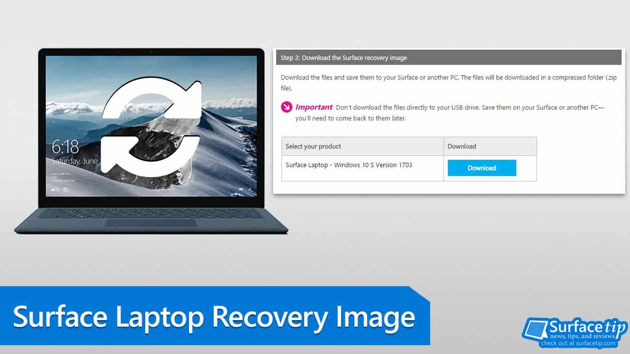 Download Surface Laptop Recovery Image