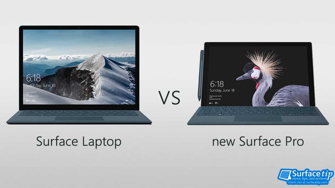 Surface Laptop vs new Surface Pro 2017