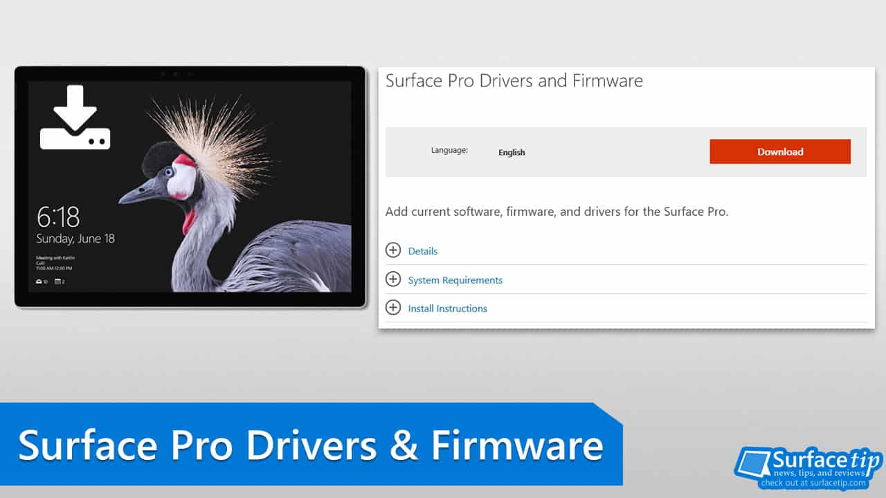 Surface Pro (2017) Drivers and Firmware
