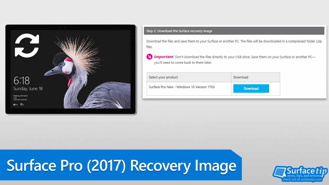 How to download the new Surface Pro (2017) Recovery Image