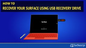 How to Recover Your Surface Using USB Recovery Image