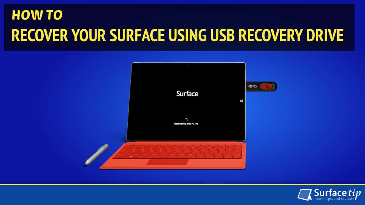 boot surface rt from a usb device
