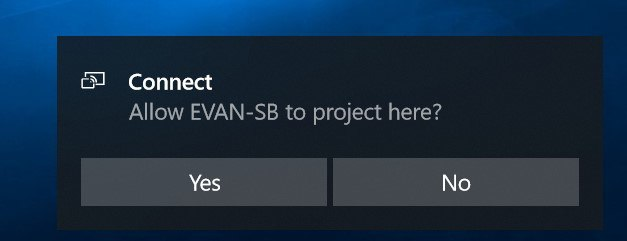 Projecting to this PC confirmation