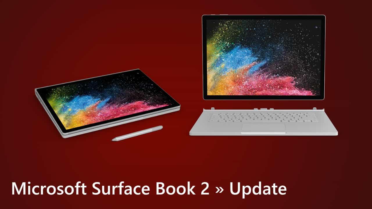 Microsoft Surface Book 2 Update