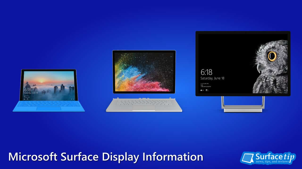 Microsoft Surface Display Comparison