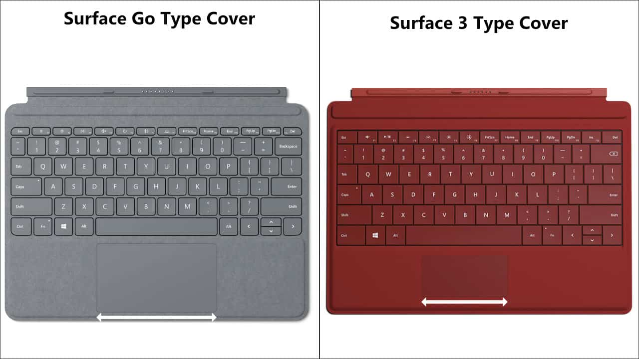 Surface Go vs. Surface 3 Type Cover 01
