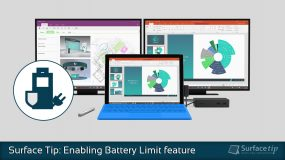 How to enable Surface Battery Limit feature