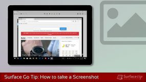 How to screenshot on Surface Go