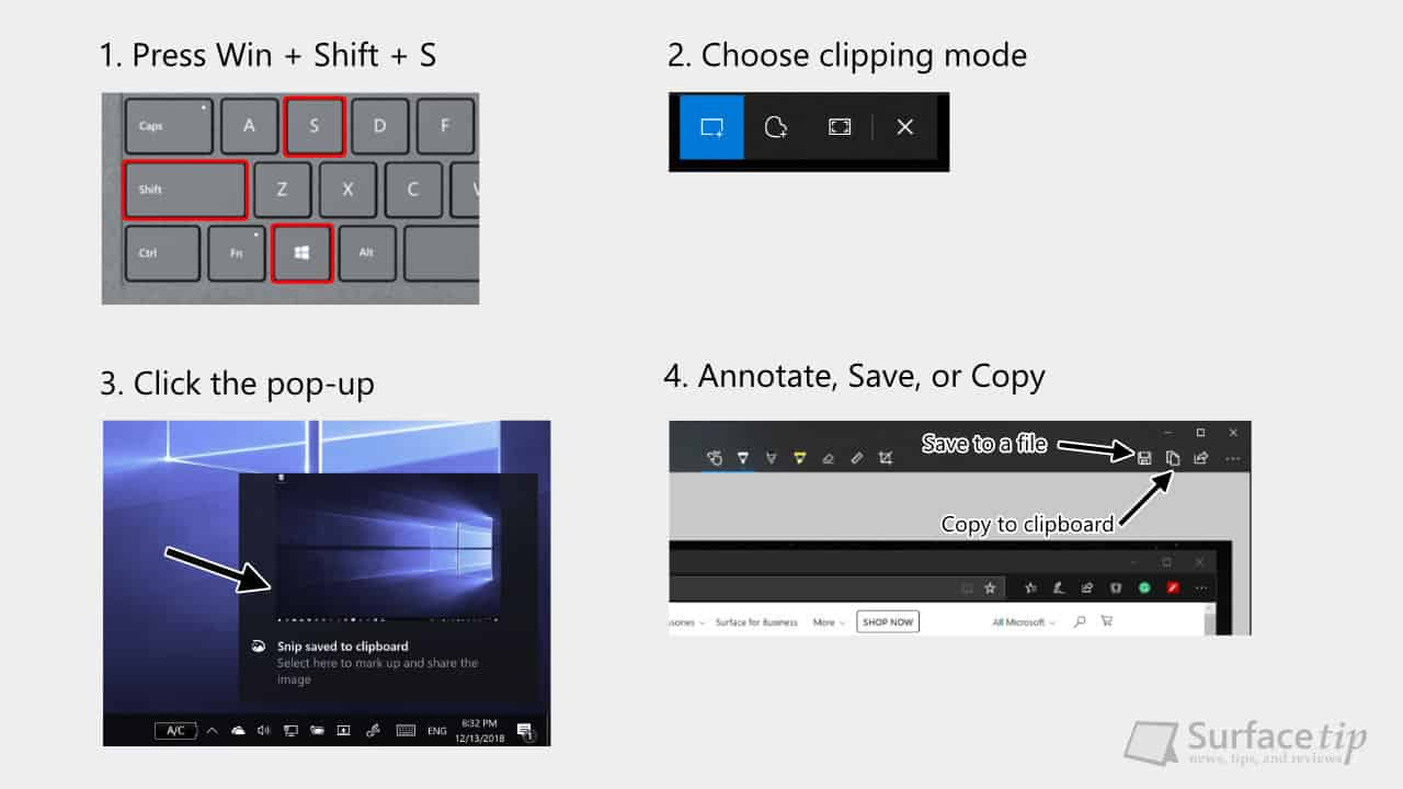 The 6 easy ways to take a screenshot on Surface Pro