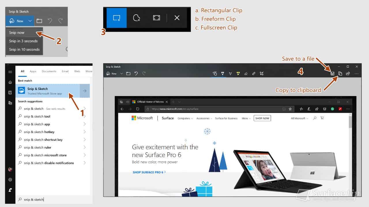 Surface Screenshot: Snip & Sketch