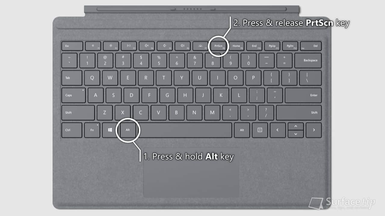 Surface Signature Type Cover - Alt + PrtScn