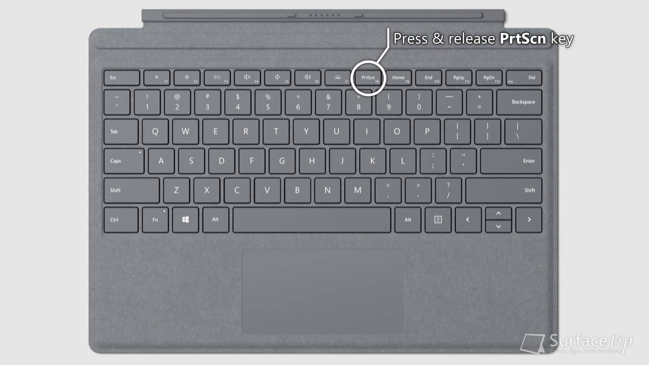 Surface Signature Type Cover - PrtScn