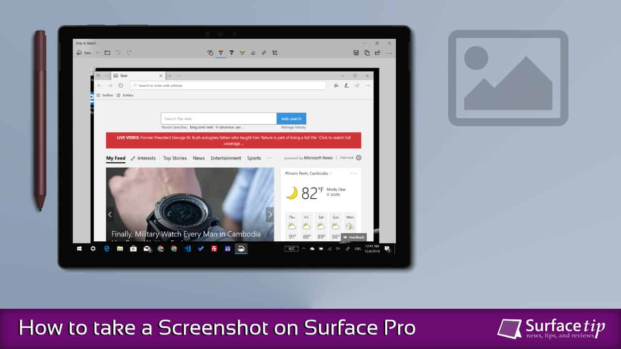 How to screenshot on Surface Pro