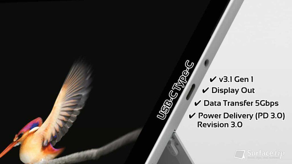 Surface Go USB-C Specs