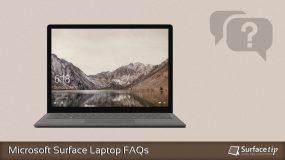 Microsoft Surface Laptop FAQs