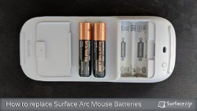 How to replace Surface Arc Mouse Batteries