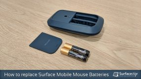 How to replace Microsoft Surface Mobile Mouse Batteries