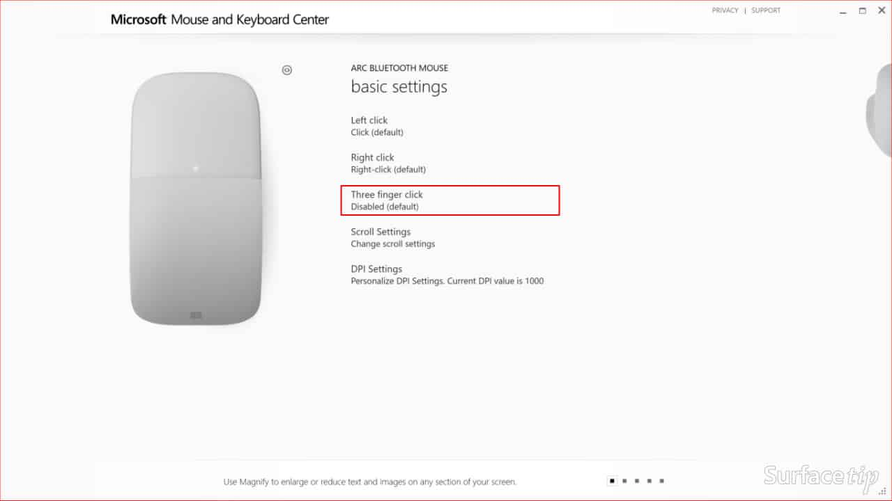 Configuring Surface Arc Mouse Step 03