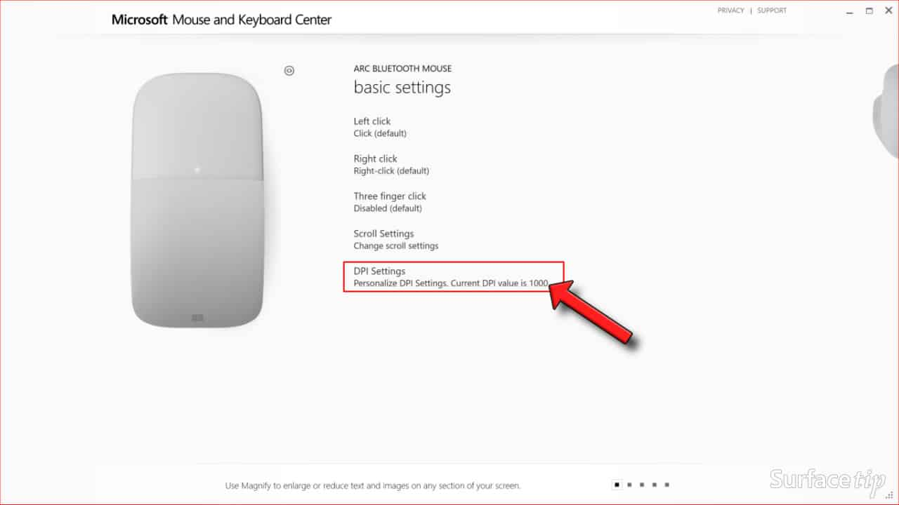 Configuring Surface Arc Mouse Step 05