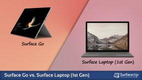 Surface Go vs. Surface Laptop (1st Gen) – Detailed Specs Comparison